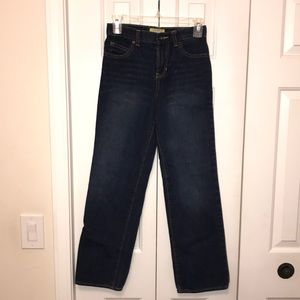 Boy's Old Navy Slim Straight Dark Wash Jeans Sz 14